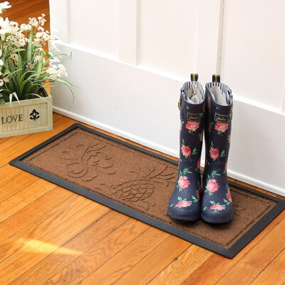 Keppler Pineapple Boot Tray Color: Dark Brown