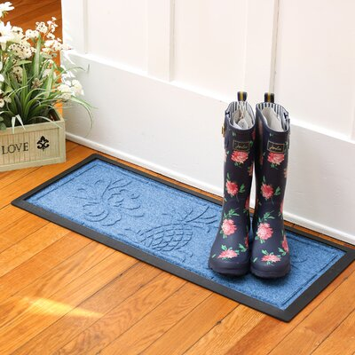 Keppler Pineapple Boot Tray Color: Medium Blue