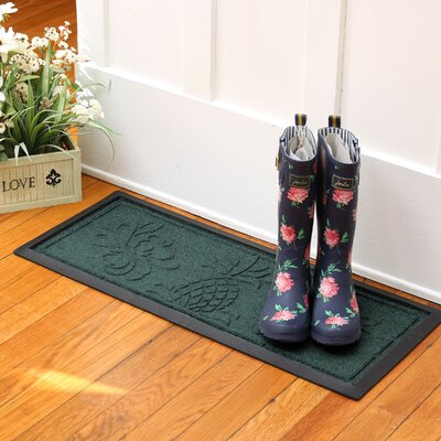Keppler Pineapple Boot Tray Color: Evergreen