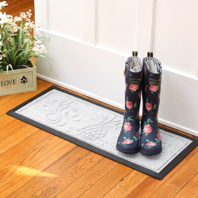 Keppler Pineapple Boot Tray Color: White