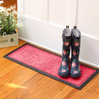 Keppler Pineapple Boot Tray Color: Solid Red