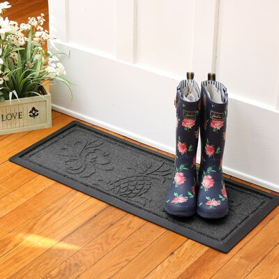 Keppler Pineapple Boot Tray Color: Charcoal