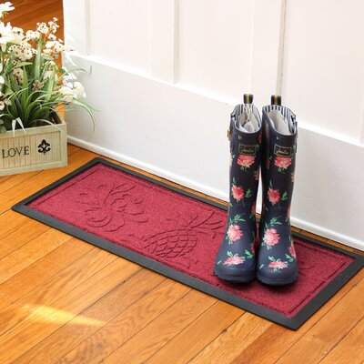 Keppler Pineapple Boot Tray Color: Red/Black