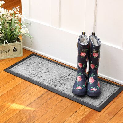 Keppler Pineapple Boot Tray Color: Medium Gray