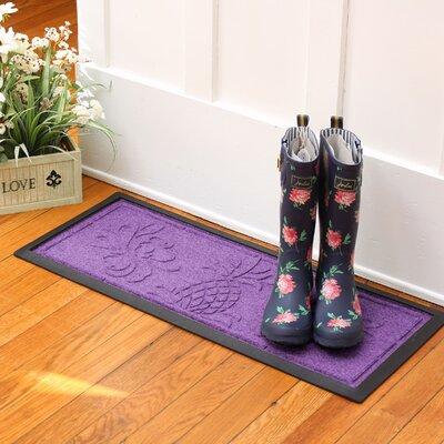 Keppler Pineapple Boot Tray Color: Purple