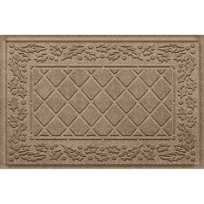 Olivares Diamond Holly Outdoor Doormat Color: Camel
