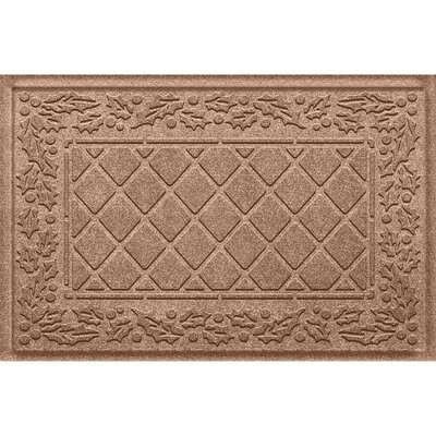 Olivares Diamond Holly Outdoor Doormat Color: Medium Brown