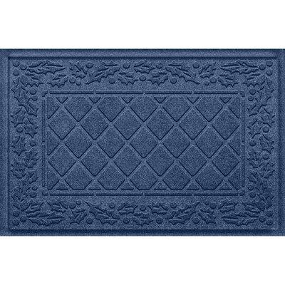 Olivares Diamond Holly Outdoor Doormat Color: Navy