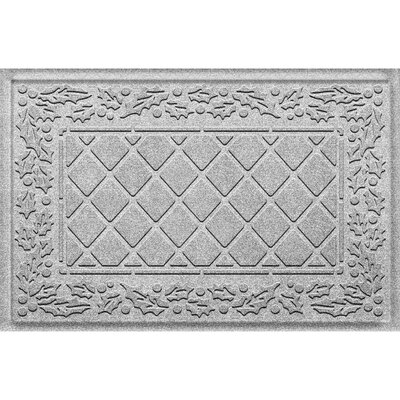 Olivares Diamond Holly Outdoor Doormat Color: White