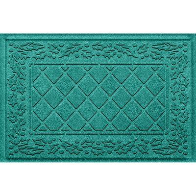 Olivares Diamond Holly Outdoor Doormat Color: Aquamarine