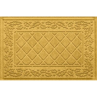 Olivares Diamond Holly Outdoor Doormat Color: Yellow