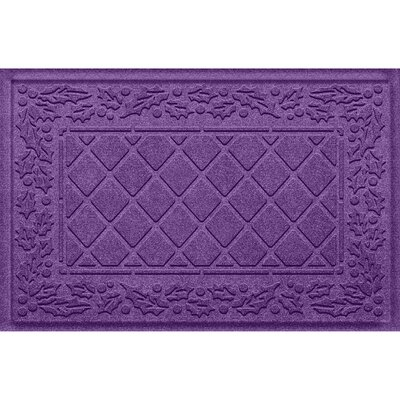 Olivares Diamond Holly Outdoor Doormat Color: Purple