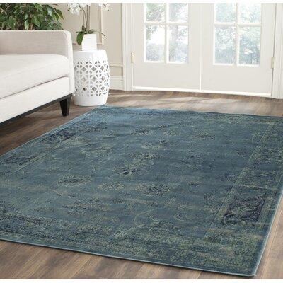 Beldale Blue Area Rug Rug Size: 76 x 106