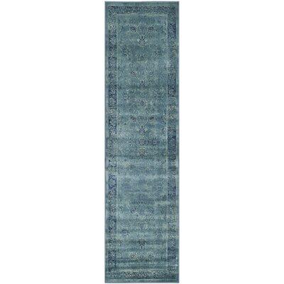 Beldale Blue Area Rug Rug Size: Runner 22 x 9