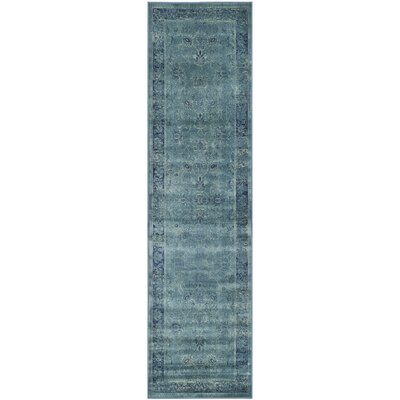 Benton Blue Area Rug Rug Size: Runner 22 x 8