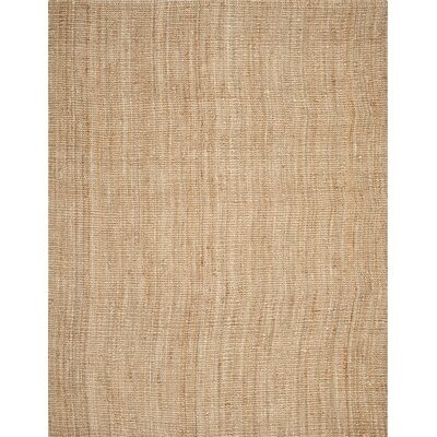 Gaines Hand-Woven Natural Area Rug Rug Size: 11 x 15