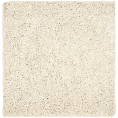 Pierce White Shag Area Rug Rug Size: Square 9