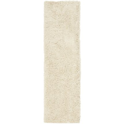 Kirtley White Shag Area Rug Rug Size: Runner 23 x 8