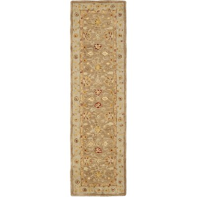 Potterslane Hand-Woven Wool Brown Area Rug Rug Size: Runner 23 x 20