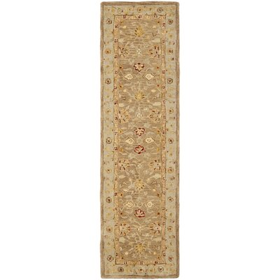 Potterslane Hand-Woven Wool Brown Area Rug Rug Size: Runner 23 x 8