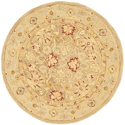 Ellison Brown Area Rug Rug Size: Round 4