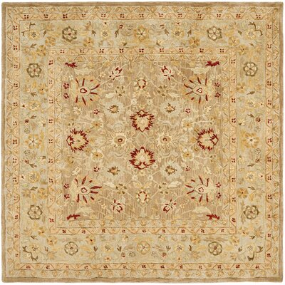 Potterslane Hand-Woven Wool Brown Area Rug Rug Size: Square 8