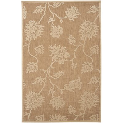 Gaither Khaki Outdoor Area Rug Rug Size: 47 x 67