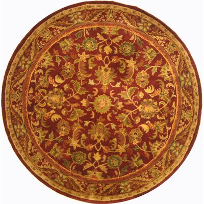 Wine & Gold Area Rug Rug Size: Round 36