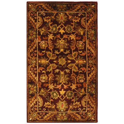 Wine & Gold Area Rug Rug Size: Rectangle 12 x 15