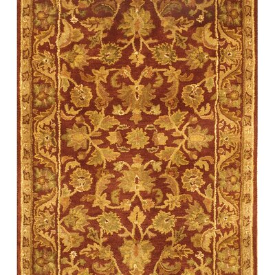 Wine & Gold Area Rug Rug Size: 3' x 5'