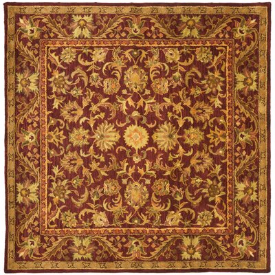 Wine & Gold Area Rug Rug Size: Square 6
