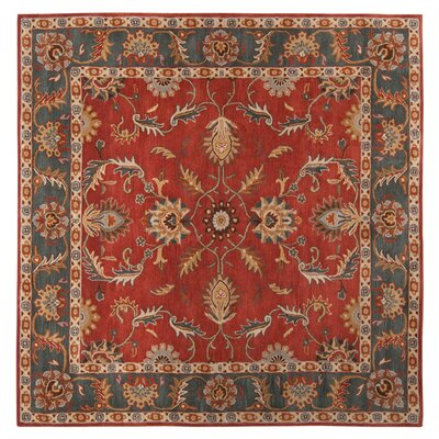 Waterston Red Area Rug Rug Size: Square 4