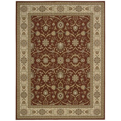 Zurich Crown Brick/Beige Area Rug Rug Size: Runner 22 x 84