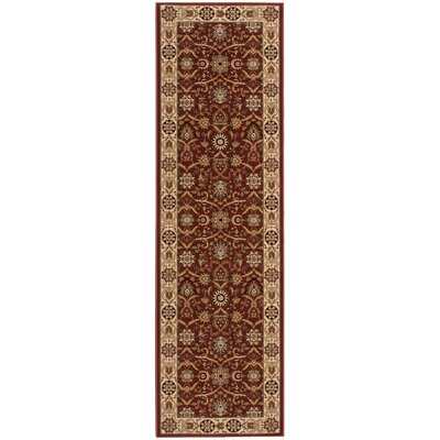 Zurich Crown Brick/Beige Area Rug Rug Size: Runner 22 x 76