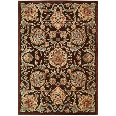 Smithson Chocolate/Beige Area Rug Rug Size: Rectangle 53 x 75
