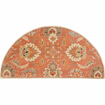 Gaither Orange Area Rug Rug Size: Slice 2 x 4