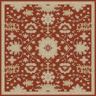 Willard Burgundy/Beige Area Rug Rug Size: Square 4