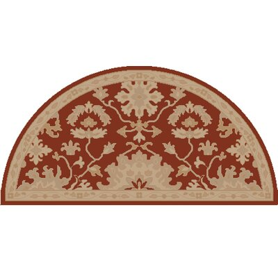 Willard Burgundy/Beige Area Rug Rug Size: Slice 2 x 4