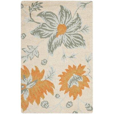 Elsner Ivory Floral Area Rug Rug Size: 3' x 5'