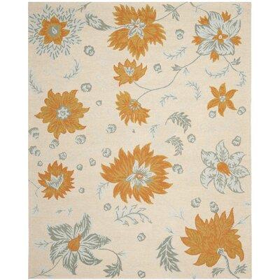Elsner Ivory Floral Area Rug Rug Size: 8' x 10'