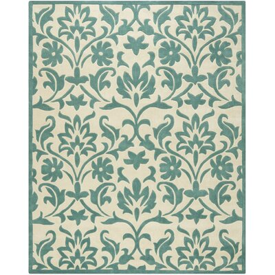 Amagansett Ivory/Light Blue Rug Rug Size: Rectangle 8 x 10