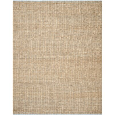 Elston Hand-Woven Light Beige/Natural Area Rug Rug Size: 8 x 10