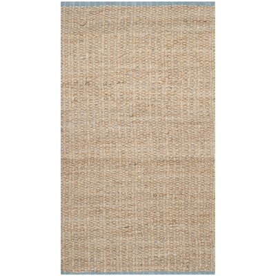 Elston Hand-Woven Light Beige/Natural Area Rug Rug Size: 3 x 5