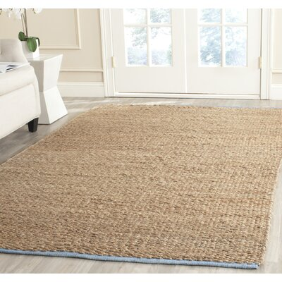 Elston Hand-Woven Light Beige/Natural Area Rug Rug Size: 5 x 8