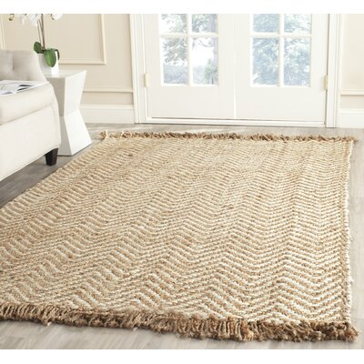 Dennisport Hand-Woven Bleach/Natural Area Rug Rug Size: Rectangle 26 x 4