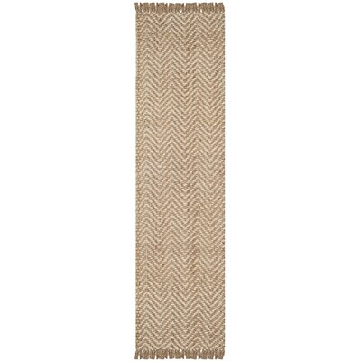 Dennisport Hand-Woven Bleach/Natural Area Rug Rug Size: Runner 26 x 12