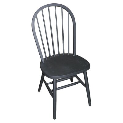 Roselawn Spindleback Windsor Side Chair Finish: Black