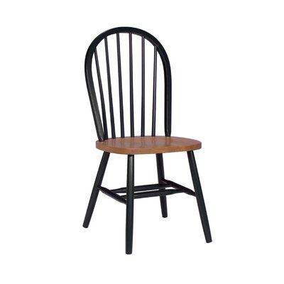 Roselawn Spindleback Windsor Side Chair Finish: Black / Cherry