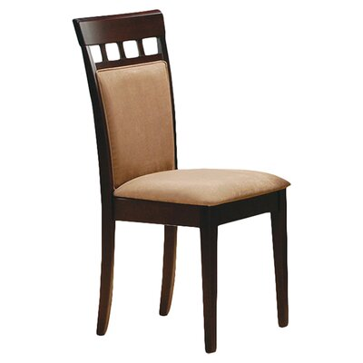 Zora Cushion Back Side Chair Finish: Rich Cappuccino