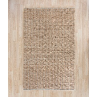 Elston Hand-Woven Light Beige/Natural Area Rug Rug Size: Rectangle 8 x 10